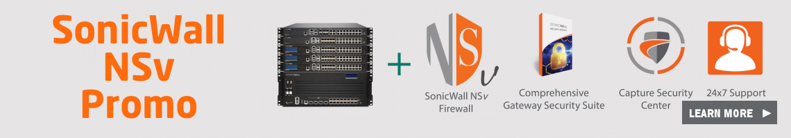 SonicWall NSv Promo