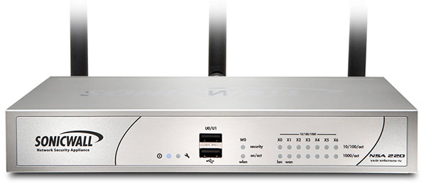 SonicWall NSA 220 Wireless-N Appliance